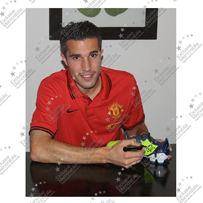Exclusive Memorabilia - Botas de fútbol firmadas por Robin van Persie: Amazon.es: Deportes y aire libre