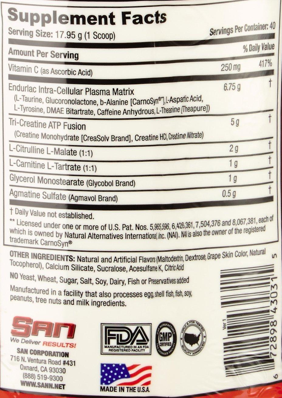 SAN Nutrition Fierce Domination Egrogenic & Myotropic Pre-Workout Supplement, Furious Fruit Punch, 30 Servings