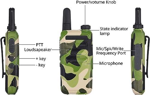 eSynic 2 Pack Walkie Talkies Rechargeable Long Range 2 Way Radio