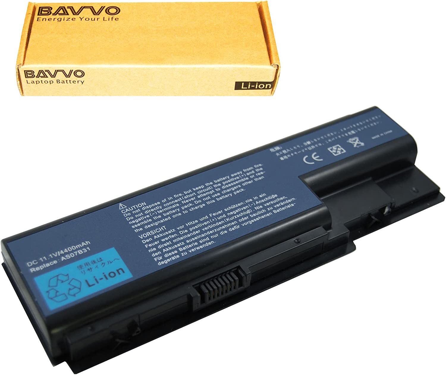 Bavvo Battery Compatible with ACER as07bx1 aso7b41 bt.00604.025 BT.00803.024 BT.00804.020