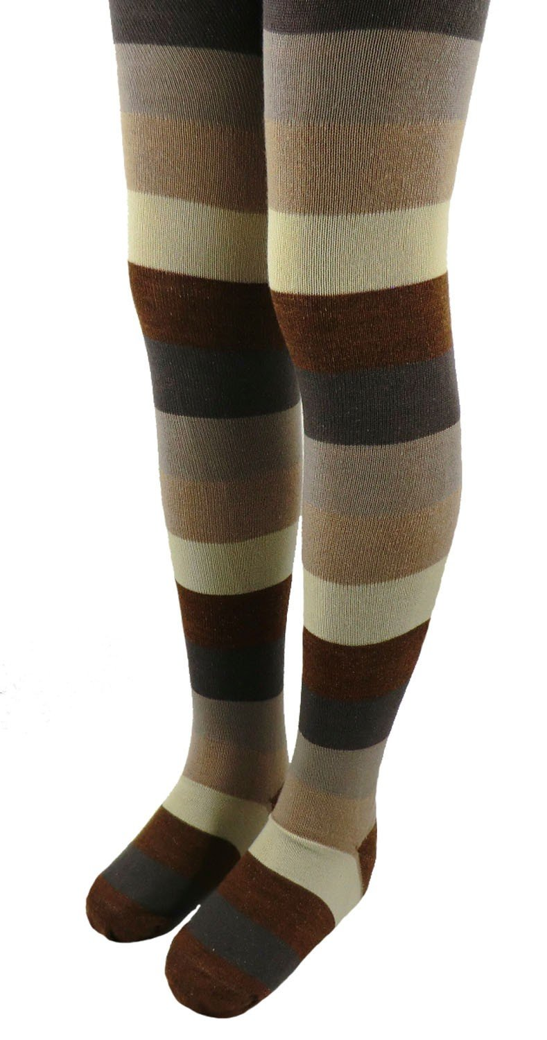 Children's Tights Horizontal Stripes with Wool