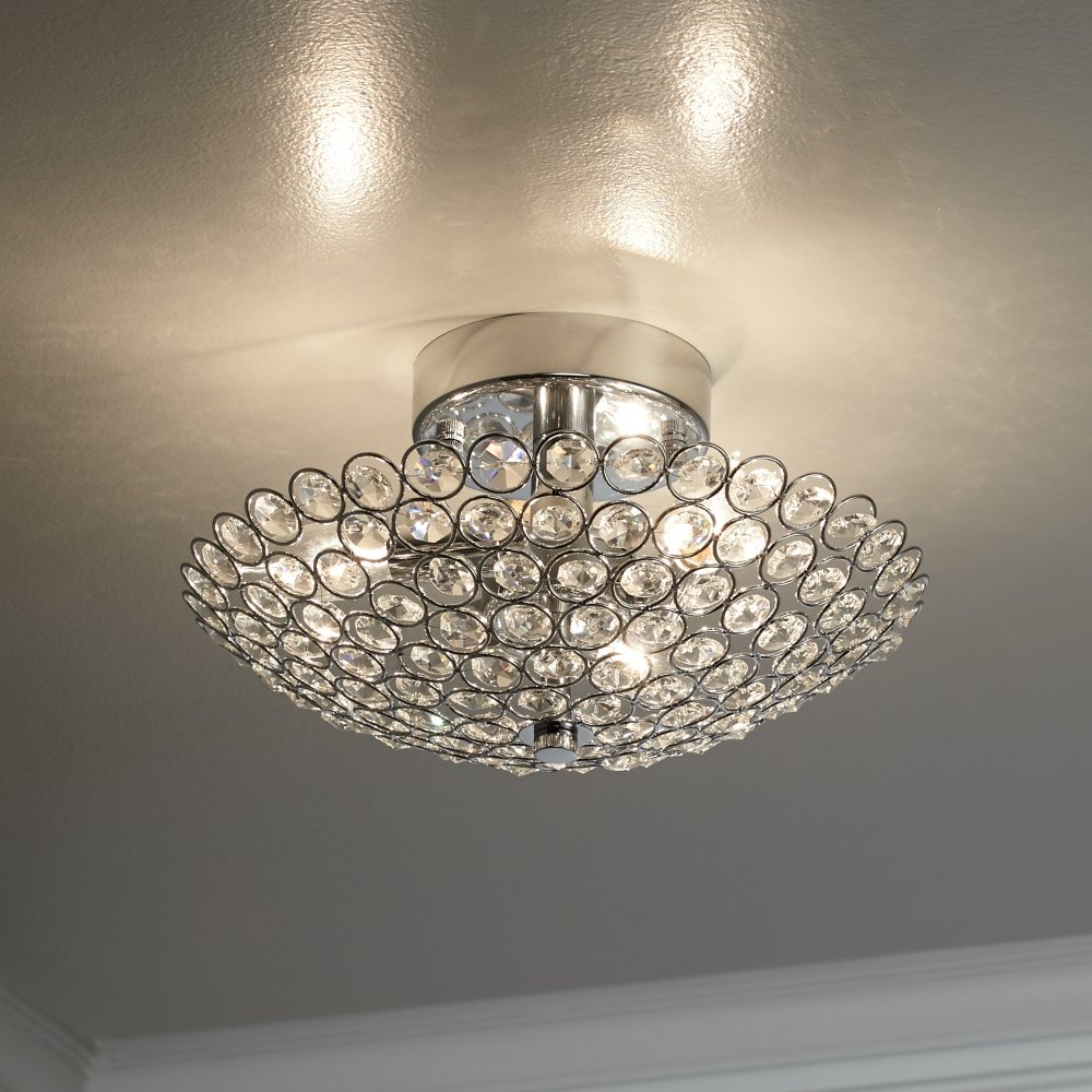 Possini Euro Design Geneva 12 Wide Crystal Ceiling Light