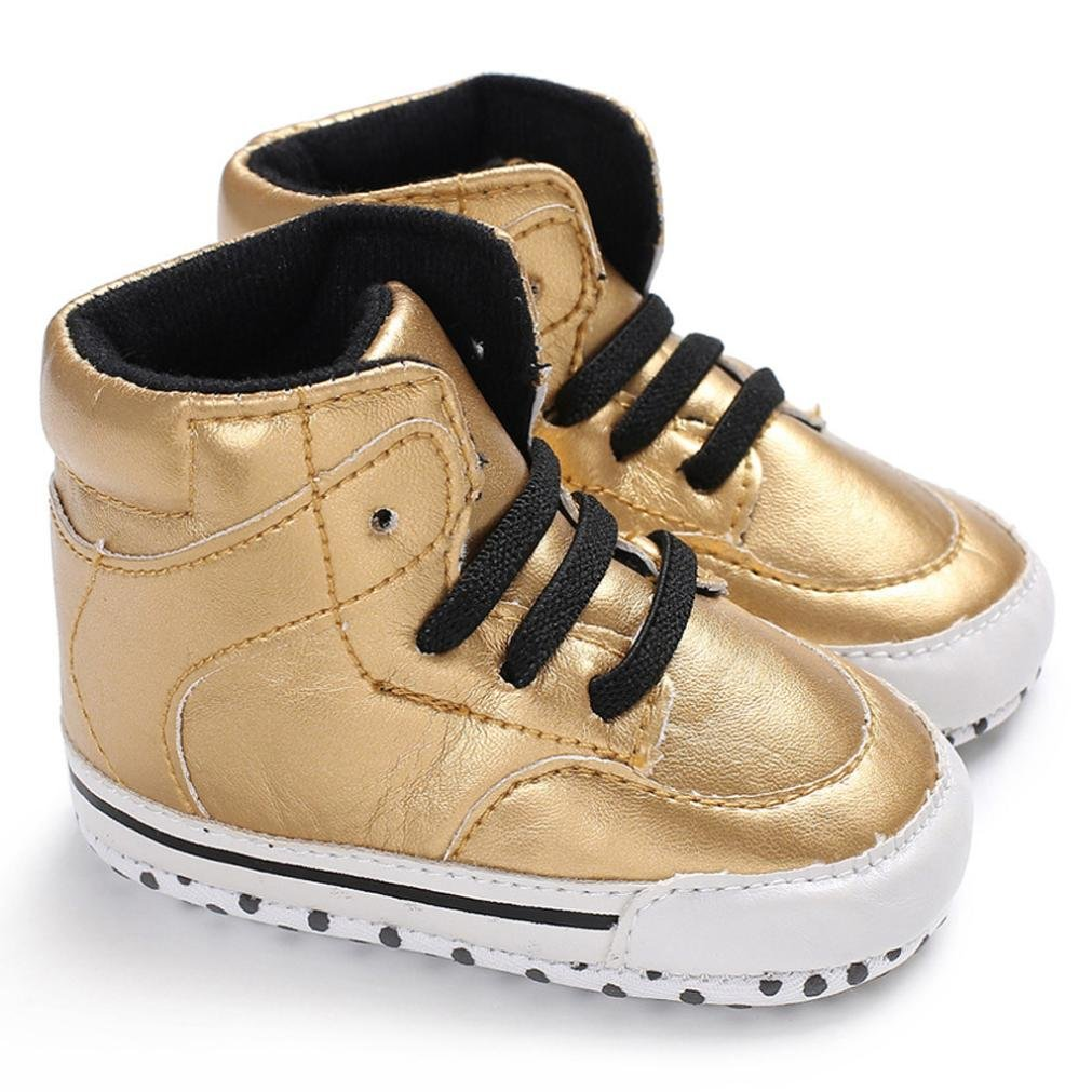 KONFA Toddler Baby Boys Girls Soft Sole Shoes,for 0-18 Months,Kids Stylish Anti-Slip Prewalker Sneakers