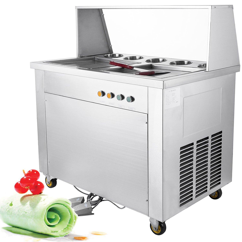 Happybuy Ice Cream Machine Maker 1800W (Double Pan Single compressor)