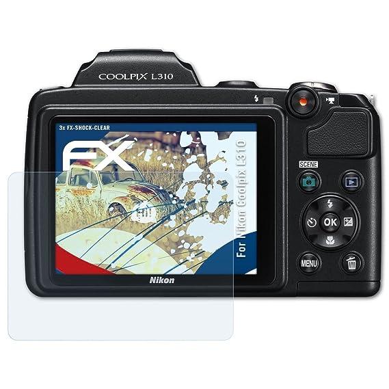 atFoliX Antichoque Película Protectora Compatible con Nikon ...