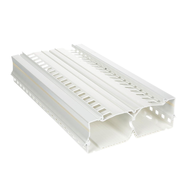 パンドウイット Panelmax™DINレールダクト, 本体、カバー、取り付けネジ, 高さ 4インチ, PVC, 白. DRD44WH6   B005T6SKQQ