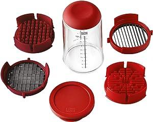 Kuhn Rikon Push Slicer, one size, Red