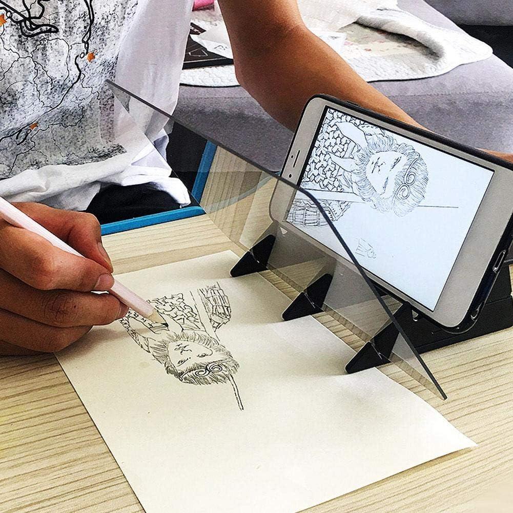 Aiggend Optisches Zeichenbrett Tragbarer optischer Zeichenprojektor DIY Drawing Tracing Pad Sketch Painting Table Schreibtischwerkzeuge