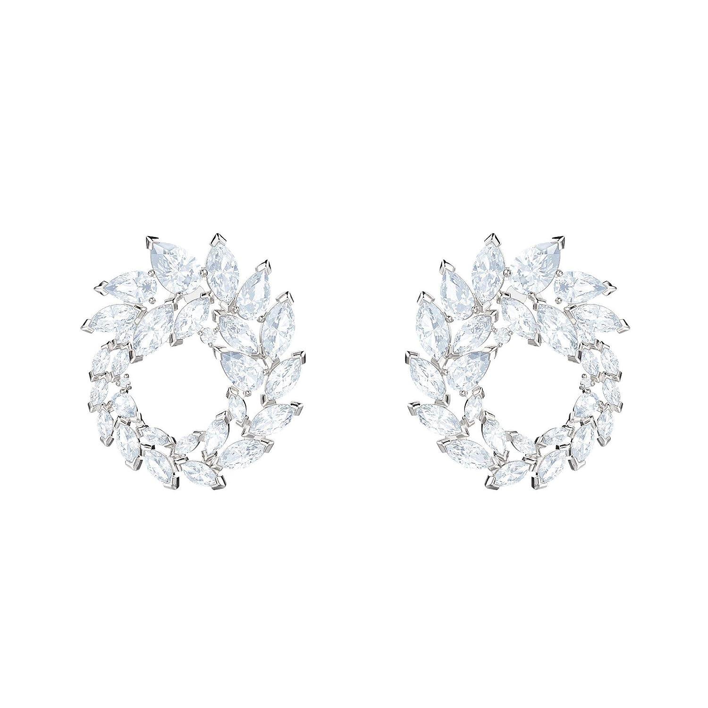 1c4c643f9885e7 Amazon.com: Swarovski Crystal Louison White Rhodium-Plated Earrings: Jewelry