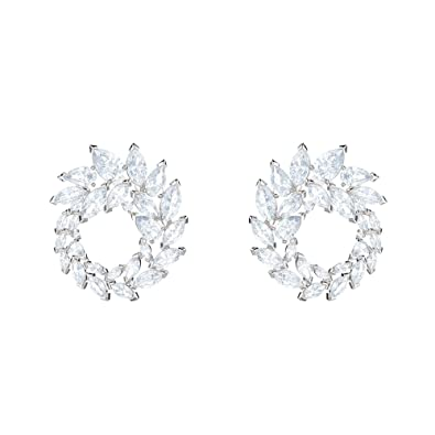 bdbdbaf369cbe6 Image Unavailable. Image not available for. Color: Swarovski Crystal Louison  White Rhodium-Plated Earrings