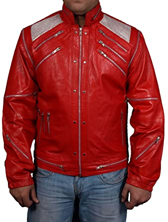 Men's Hls Leather Beat It Sheep Red Jacket CBxorde
