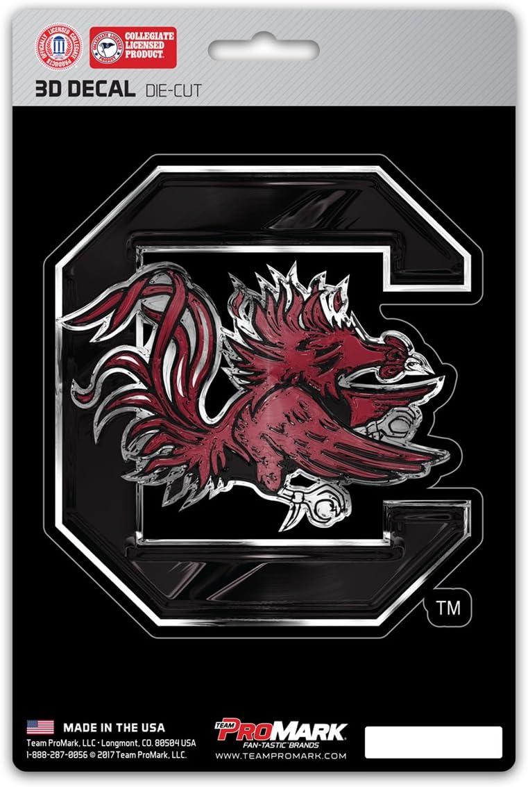 Garnet FANMATS University of South Carolina 3D Team Logo Decal One Size