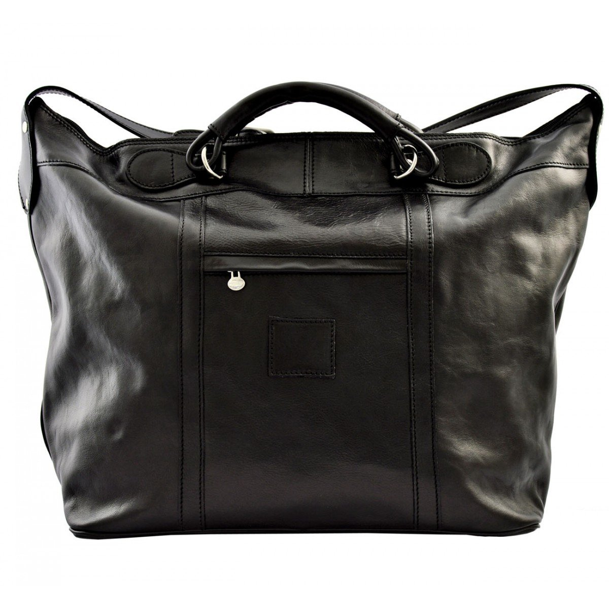 Dream Leather Bags Made in Italy Genuine Leather メンズ US サイズ: 1 カラー: ブラック B074MB1J2X