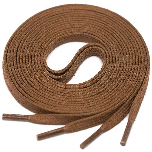 1d01d37490055 Amazon.com: LACCICO Men's Flat Waxed Shoelaces width 4mm. 4 Length ...