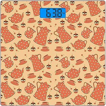 Escala digital de peso corporal de precisión Square Fiesta del té ...