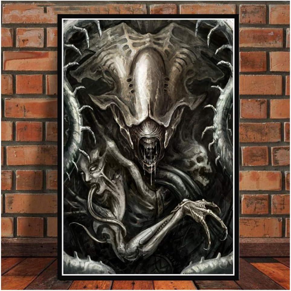 Hr Giger Li II Abstrakt Alien Poster Wandkunst Bild Leinwand Malerei f/ür Raum Home Decor50x70cmframeless