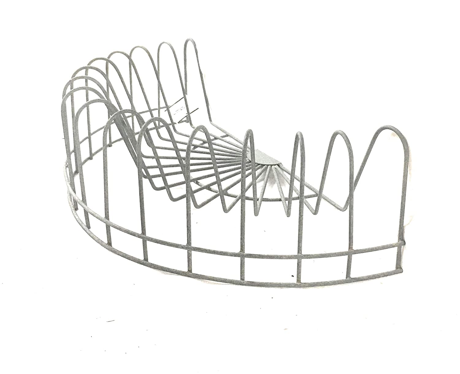 CTW Home Collection Vintage Style Rustic Wire Dish Rack, Plate Display, File Holder, Mail caddy, Card Holder,Gray,16' x 8' x 4.5' 16 x 8 x 4.5