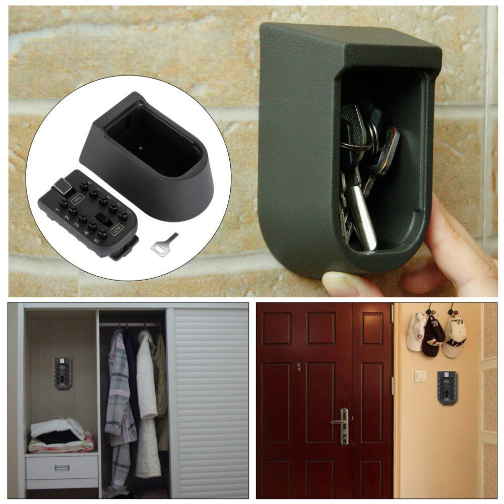 QERI Wall Mounted Key Lock Box Secure Box for up to 5 House Keys Or Car Keys.Prevent Lock-Outs and Provide Access to Your Property by Trusted People When You are at Work Or On Vacation. by Qeri (Image #6)