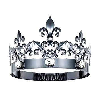 Amazoncom Dczerong Queen Crown King Crowns Adult Women Men