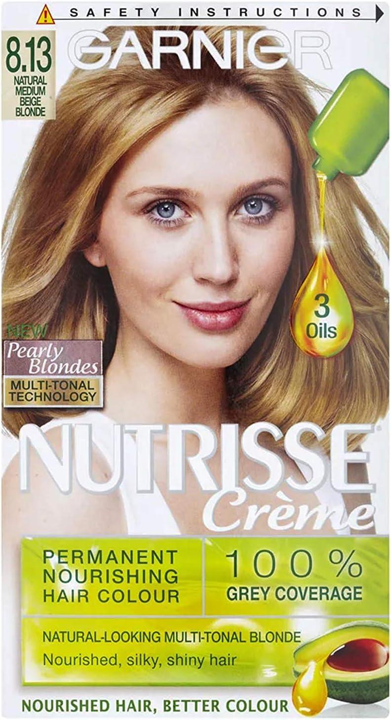 Garnier Nutrisse Creme 8.13 Rubio Beige): Amazon.es: Salud y ...
