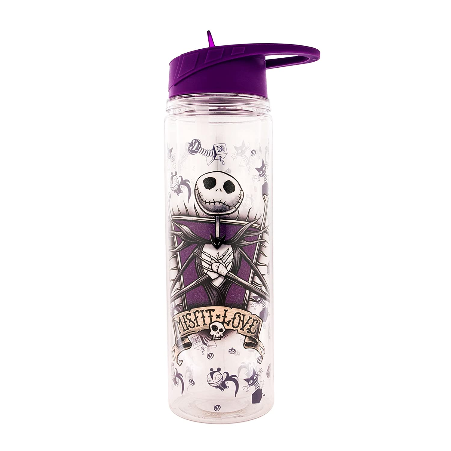Silver Buffalo NB9687ST Disney Nightmare Before Christmas Jack Leaning Face Fade Stainless Steel Travel Mug, 16-Ounces