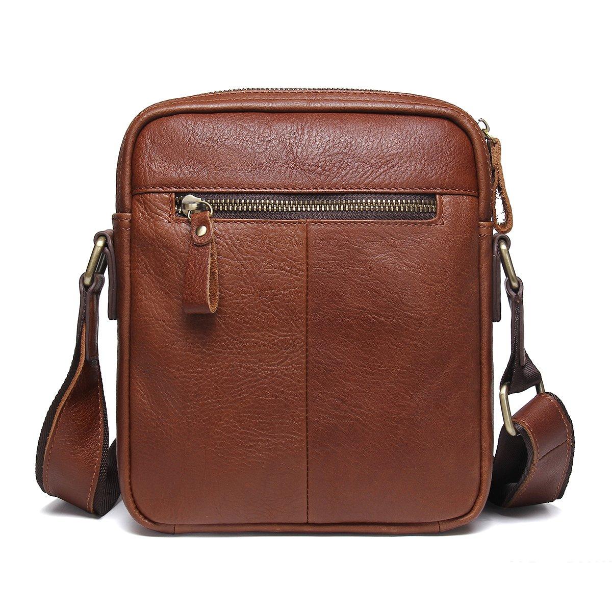 Amazon.com  Contacts Genuine Leather Mens iPad Messenger CrossBody Bag Tab  Handbag Brown  Sports   Outdoors ff9db77e0e
