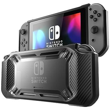 Mumba Funda para Nintendo Switch [Reforzada] Carcasa Dura Delgada y Cubierta en Goma [Enganchable] para Nintendo Switch Version 2017 (Negro)
