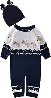 ZOEREA Pull bébé garçon Barboteuse bébé Enfant Pyjamas bébé Vetement Bebe  Fille Costume Enfant garçon Manches 7009f6dc561