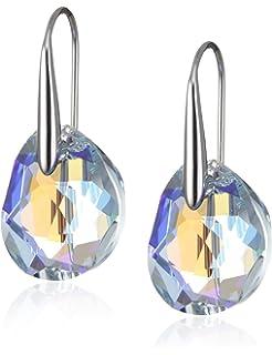 348e1aca5 Swarovski Energic Pierced Earrings, Golden, Gold plating: Amazon.co ...