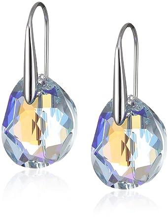 4eebdc27d Swarovski Galet Pierced Earrings - Blue - 949740: Amazon.com.au: Fashion