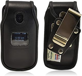 product image for Turtleback Fitted Case Made for LG Enovy 2 II un160 Phone Black Leather Rotating Removable Metal Belt Clip Made in USA