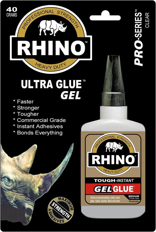 Rhino (RE1479) Glue Gel 40 Gram Clear Heavy Duty Glue