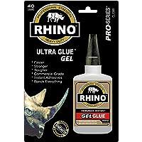 Rhino Glue Gel,Heavy Duty 40 Gram Clear