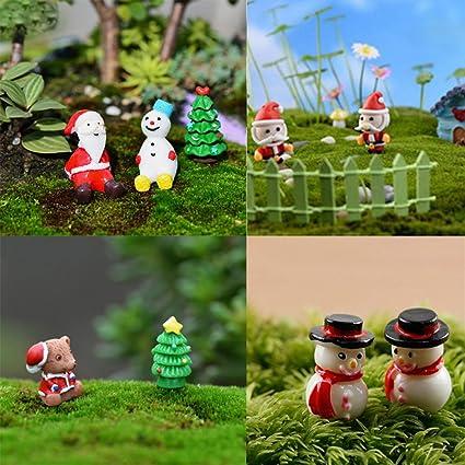 Adornos navideños en miniatura Jettingbuy, 48 unidades para decoración de Navidad o jardín de hadas: Amazon.es: Hogar
