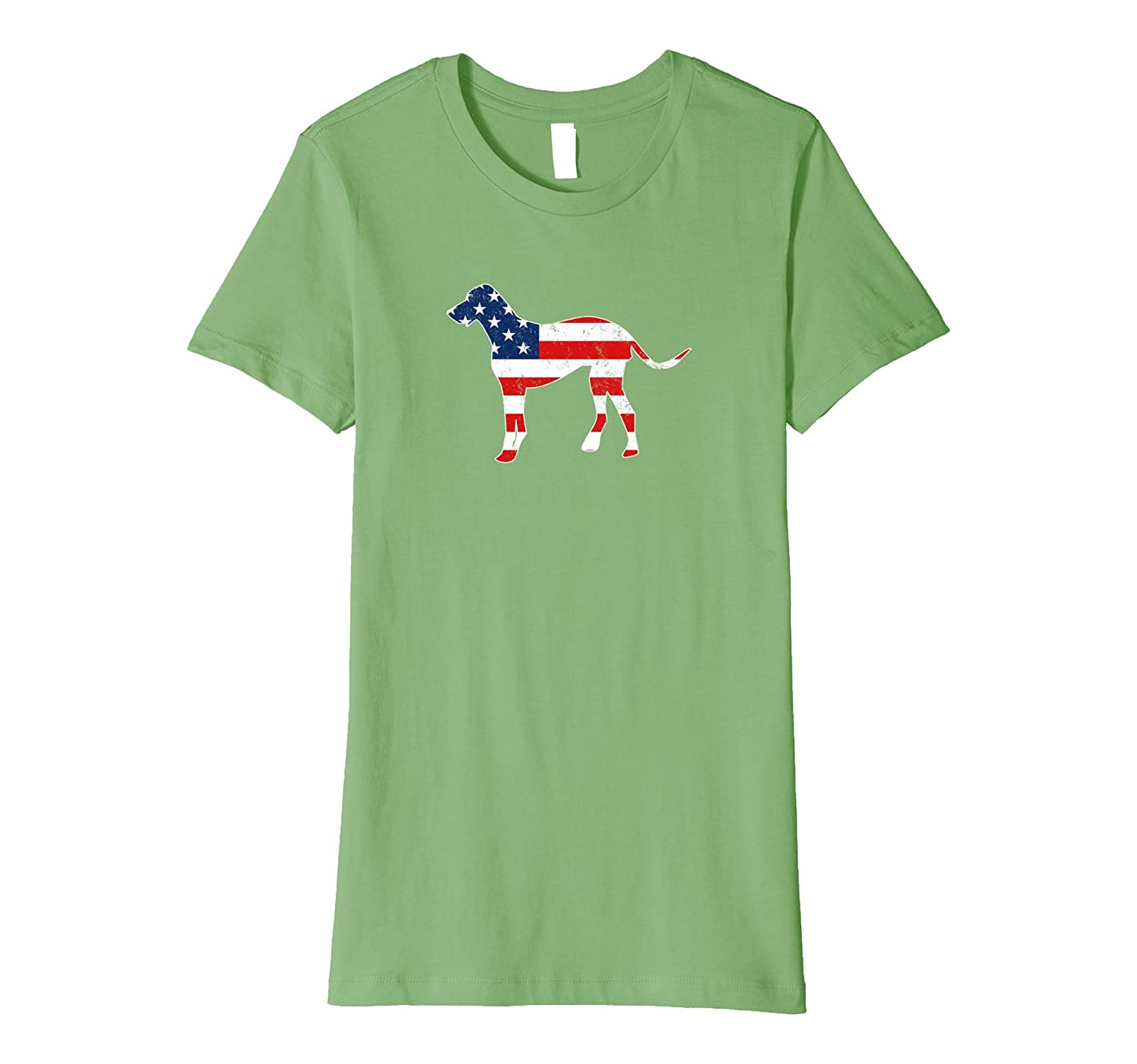 Patriotic American Great Dane T-Shirt Slim Fit