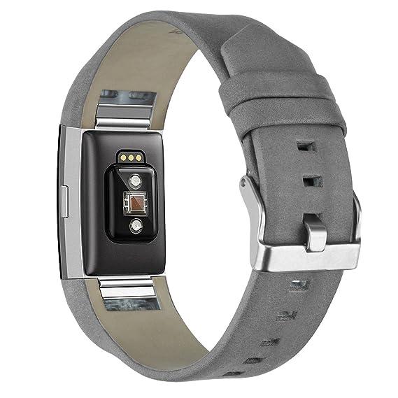 Correa de Reloj para Fitbit Charge 2 KZKR Pulseras de Reloj Correa de Reloj Gris Correa