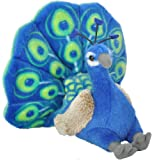 Wild Republic Peacock Plush, Stuffed Animal, Plush Toy, Gifts for Kids, Cuddlekins 8 Inches