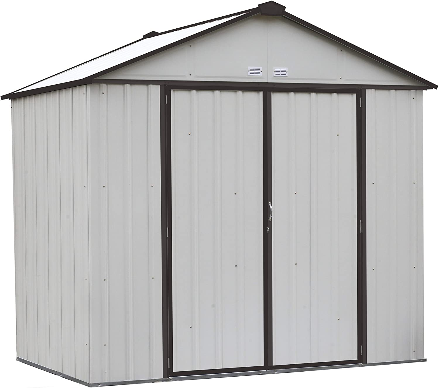 Arrow 6 x 5 EZEE Shed Charcoal Low Gable Steel Storage Shed with Peak Style Roof