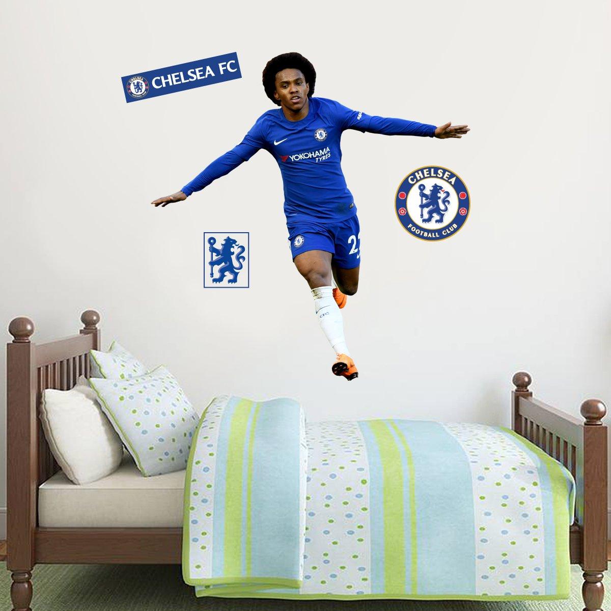 Home Dcor Willian Goal Celebration Chelsea FC Wall Mural Sticker ...