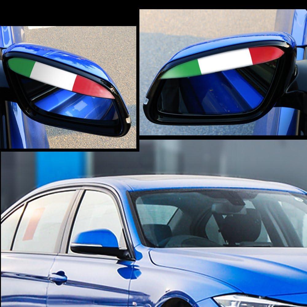Universal Car Rear View Wing Mirror Rain Board Eyebrow Guard Waterproof Sun Shade Shield Italian Flag Stickers Styling 1 Pair