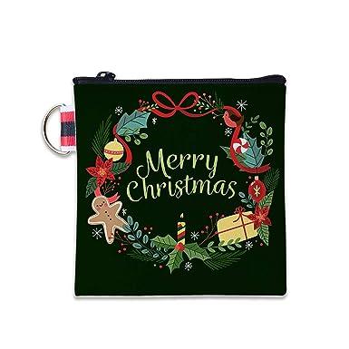 Amazon.com: Cartera de Navidad con bonitos elementos de lona ...