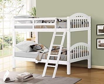 Amazon Com Harper Bright Designs Bunk Bed Solid Wood Twin Over Twin