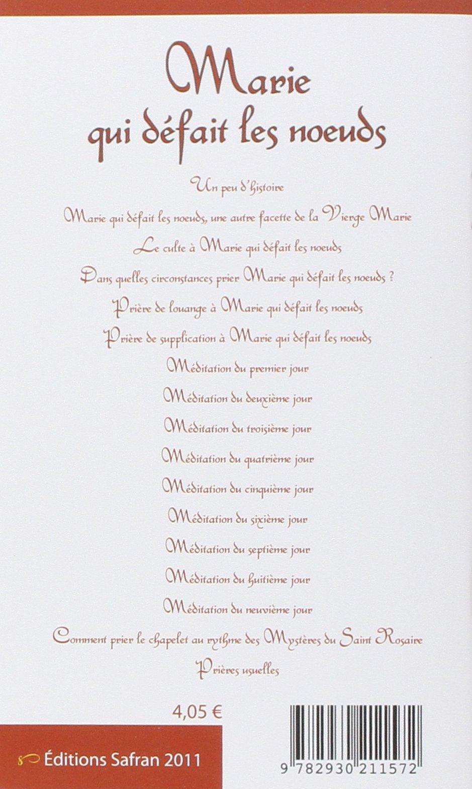 Super Amazon.fr - Marie qui défait les noeuds - Neuvaine et prières  NG38