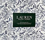Ralph Lauren 4 Piece Sheet Set - Navy Blue Floral Pattern with Leaves on White with Grey Accents in Background 100% Cotton (Queen)