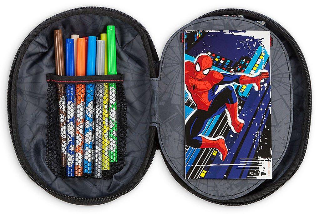 Sharpener Eraser Marvel Spider-Man Boy/'s Pencil Case Ruler /& 2 Pencils NWT