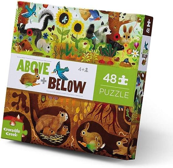 CROCODILE CREEK CC-3876002 - Puzle arriba y abajo del bosque de 48 piezas: Amazon.es: Juguetes y juegos