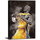HONGRUIFAN Canvas Kobe Bryant Wall Art Painting– Print NBA Pictures Art Lakers Painting Artwork for Home Decor