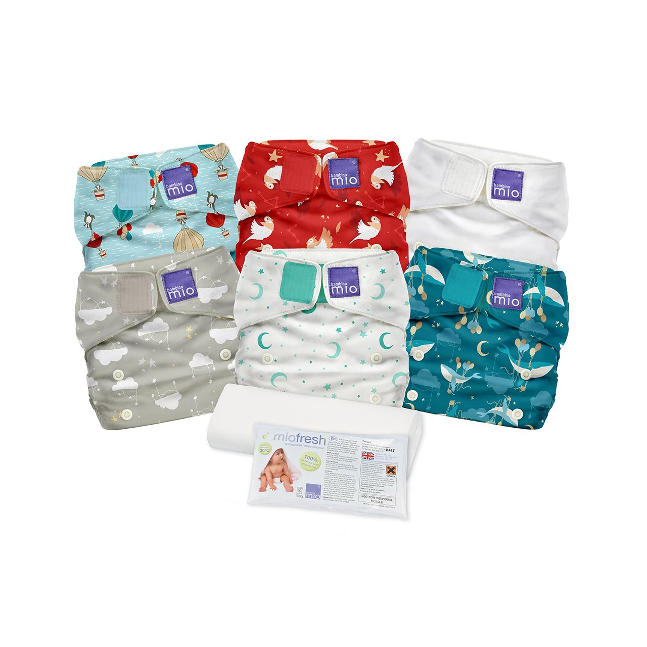 Bambino Mio, Miosolo Cloth Diaper Set, Onesize, Dream Traveler