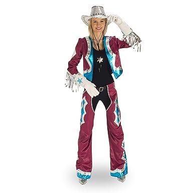 Disfraz Mujer Western Traje las vegas Girl 2 piezas flecos schrill ...