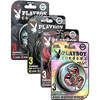 Playboy Condoms 24 Condones en 8 Latas Playpack INK con 3 Condones Natural Lubricados c\u